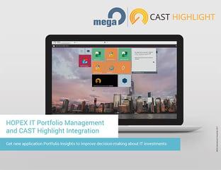 HOPEX IT Portfolio Management and CAST Highlight Integration Data Sheet