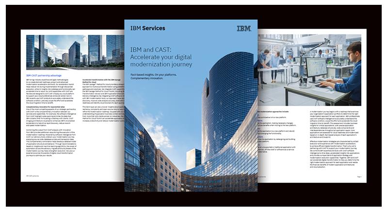 IBM and CAST: Accelerate your digital modernization journey