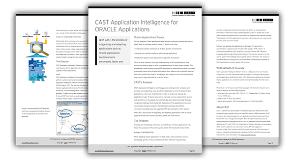 CAST for Oracle Applications