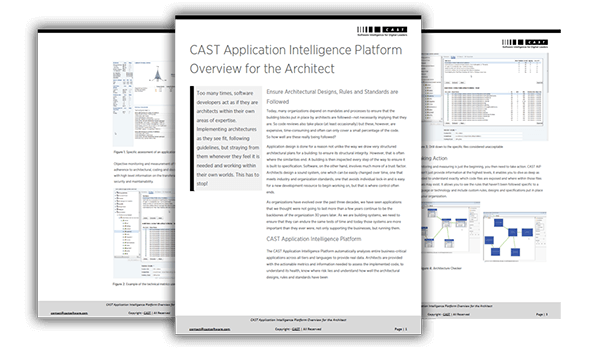 CAST Application Intelligence Platform Overview for the Architect