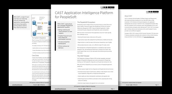 CAST Application Intelligence Platform for PeopleSoft