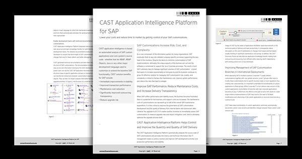 CAST Application Intelligence Platform for SAP