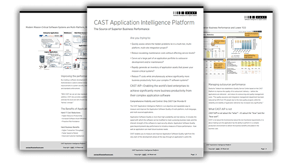 CAST Application Intelligence Platform: The Source Of Superior Business Performance