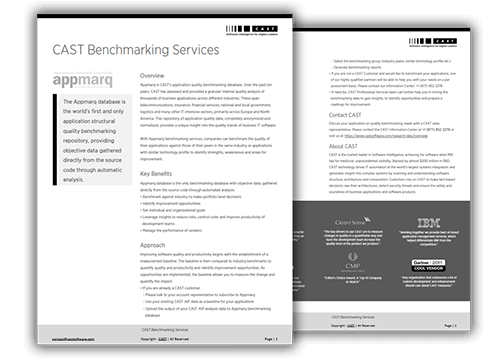 CAST Benchmarking Services (Appmarq)
