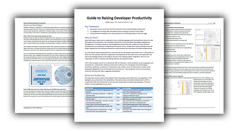 Raising Developer Productivity