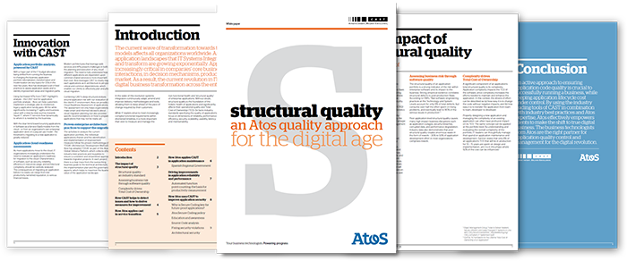Structural Quality an Atos Quality Approach for the Digital Age