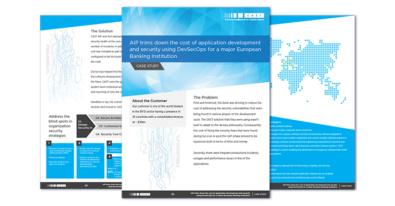 AIP trims down the cost of application development and security using DevSecOps for a major European Banking Institution