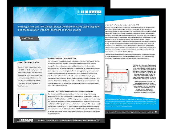 IBM-CAST partnership for App Modernization