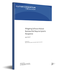 Mitigating Software-Related Business Risk Requires Systems Perspective | Cutter WP