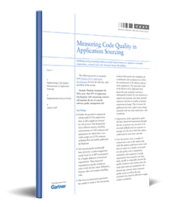 Gartner: Measuring Code Quality in Application Sourcing