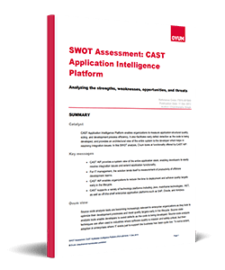 SWOT Assessment - CAST Application Intelligence Platform