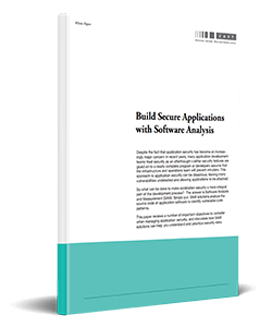 Build Secure Applications With Software Analysis