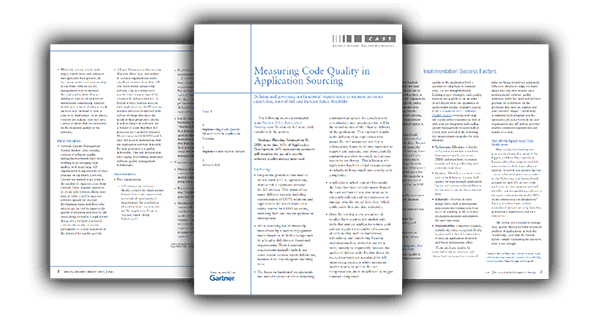 Gartner Research: Measuring Code Quality In Application Sourcing