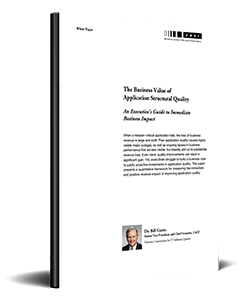 The Business Value Of Application Structural Quality
