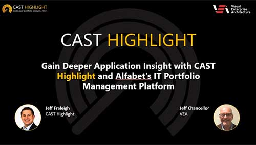 Gain Deeper Application Insight with CAST Highlight and Alfabet's IT Portfolio Management Platform